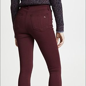 rag & bone High Rise Plush Jeans S 25 (Burgundy)